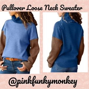 CLOSING New Boutique Blue Brown Sweater